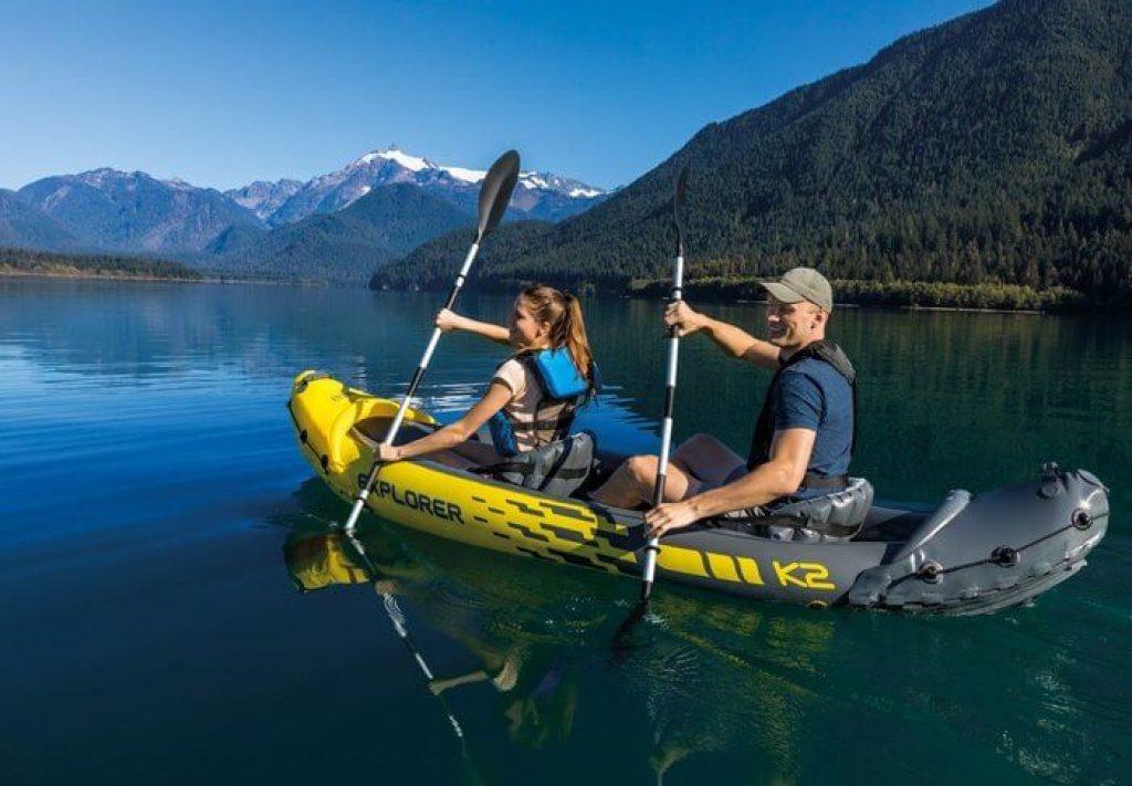 confort assise kayak gonflable Intex Explorer K2